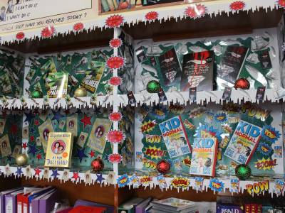 Book prizes display